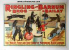 Circus Poster Ringling Brothers & Barnum Jacobs Leopards 1938