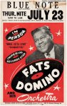 Fats Domino VERY RARE Original Vintage Concert Poster, 1959