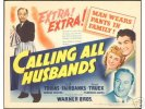 Calling All Husbands George Reeves Title and lobby cards, 1940