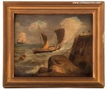 George Morland Stunning Nautical Marine Seascape Oil Painting