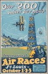 International Air Races Original Vintage Poster Charles Lindberg