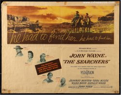Searchers Original Vintage Half Sheet Movie Poster John Wayne