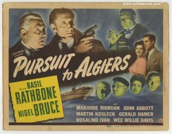 Sherlock Holmes: Pursuit to Algiers Title Card movie poster