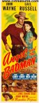 Angel and Badman John Wayne Vintage INsert Movie Poster