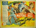 Seven Days Leave, 1942, Lucille Ball, Half Sheet
