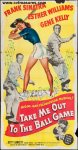 Take Me Out to Ball Game 3 Sheet Movie Poster Sinatra Kelly 1949
