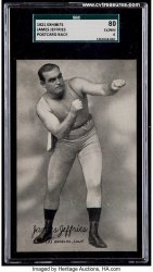 James Jeffries Vintage Postcard SGC Graded Boxing Memorabilia