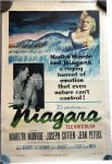 NIAGARA Original Vintage Theater Movie Poster Marilyn Monroe
