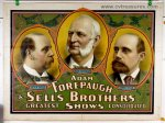 ADAM FOREPAUGH & SELLS BROTHERS CIRCUS POSTER LITHOGRAPH 1900