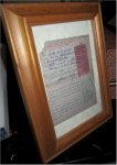 John Wayne Historic Autograph Signed Fishing License Autograph