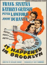 It Happened in Brooklyn vintage movie poster Frank Sinatra 1947