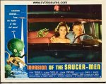 Invasion of the Saucer-Men vintage lobby card movie poster car