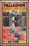 ABBOTT & COSTELLO Original Window Card Live Appearance Poster