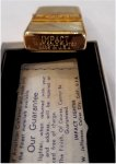 Frank Sinatra Personal Owned Gold Cigarette Lighter with Box
