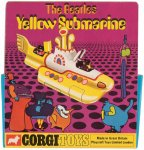 BEATLES YELLOW SUBMARINE Original Vintage Corgi w/box 1968