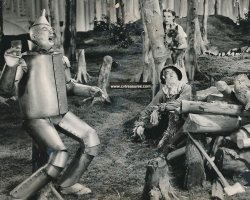 Wizard of Oz Original Vintage Photo Haley, Bolger, Garland Toto