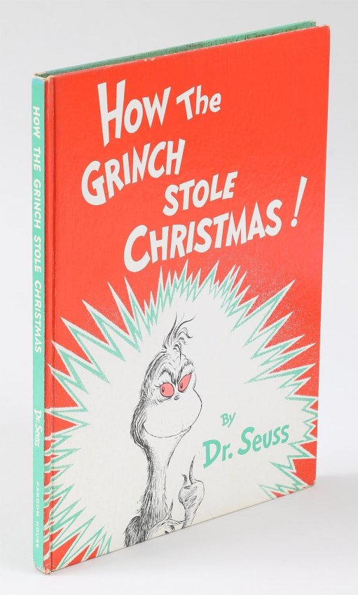 Dr Seuss How The Grinch Stole Christmas 1st Book RARE ORIGINAL - Click Image to Close