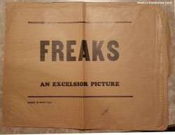Freaks Original Vintage Lobby Card Envelop 1949
