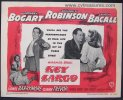 Key Largo Vintage Title Lobby Card Movie Poster Bogart Becall