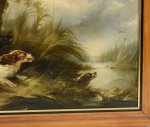 George Armfield Oil Canvas Painting Dogs Chasing 1850