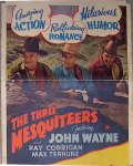 John Wayne Red River Range Insert Vintage Movie Poster, 1938