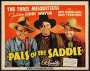 Pals of the Saddle John Wayne vintage title lobby card 1938