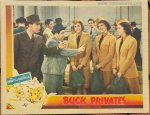 ABBOTT & COSTELLO BUCK PRIVATES VINTAGE LOBBY CARD 1941
