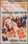 This Gun for Hire Original Vintage Movie Poster Window Card