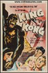 King Kong Movie Poster Vintage One Sheet 1956