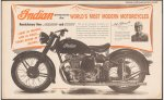 Indian Motorcycle Announces the World's Vintage Poster 1948