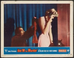 Alfred Hitchcock's Dial M for Murder, 1954, Lobby Card phone sce