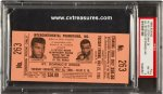 Muhammad Ali vs. Sonny Liston Fight Boxzing Ticket PSA 1965
