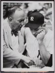 Mickey Mantle & Ty Cobb Vintage TYPE I Baseball Photo 1958