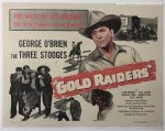 Gold Raiders Original Vintage Half Sheet Poster Three Stooges
