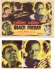 Black Friday, 1948 Bela Lugosi Boris Karloff Horror Title Card