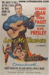 Love Me Tender Original Vintage Movie Poster Elvis Presley