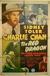 "Charlie Chan ""The Red Dragon"", 1945 Sidney Toler one sheet"