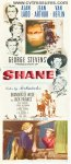 Shane Original Vintage Movie Poster Insert Alan Ladd 1953