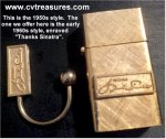 Frank Sinatra RARE Personal Gifted Gold Key Ring