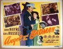 Angel and the Badman Western Movie Poster Title Card John Wayne