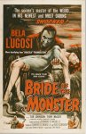 Bride of the Monster Vintage Horror Movie Poster Bela Lugosi '56