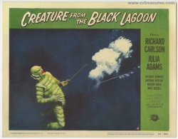 CREATURE FROM THE BLACK LAGOON Vintage Horror Lobby Card