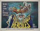 Three Stooges 1960's Meet Hercules, half sheet movie post