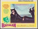 Batman vintage movie poster lobby card, 1966 catwoman