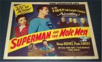 Superman and the Mole Men, George Reeves, TITLE lobby card,1951