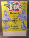 Muhammad Ali Original Fight Poster 1975 vs Chuck Wepner
