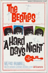Hard Day's Night Beatles Original Vintage Movie Poster One Sheet