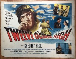 Twelve O'Clock High Original vintage Movie Poster