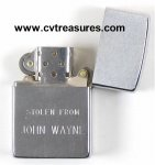 John Wayne Personal Lighter and Signed Letter to employee 1977