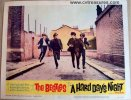 Beatles Hard Days Night, 1964 Original lobby card movie poster 1